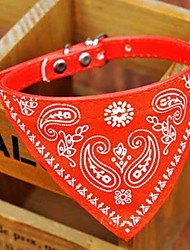 cheap -Dog Collar Collar Bandana Adjustable / Retractable Bandanas PU Leather Red Blue Pink