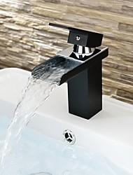 cheap -Bathroom Sink Faucet - Waterfall Painted Finishes Centerset One Hole / Single Handle One HoleBath Taps