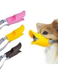 cheap -Dog Muzzle Adjustable / Retractable Anti Bark Safety Solid Colored Silicone Yellow Brown Pink
