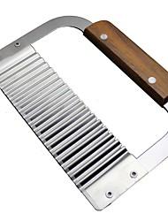 Недорогие -Нержавеющая сталь картофельный нож волна нож Spiker Slicer резки машина вырезать картофель фри рябь нож вырезать необычный картофель нож инструменты