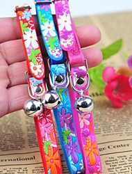 cheap -Cat Dog Collar Adjustable / Retractable PU Leather Purple Red Blue
