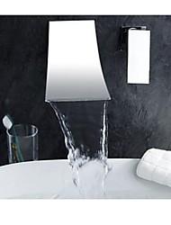 cheap -Bathtub Faucet - Contemporary Chrome Roman Tub Brass Valve Bath Shower Mixer Taps / Single Handle Two Holes