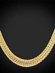 cheap -Women's Chains Necklace Chunky Foxtail chain Herringbone Chain Ladies Party Work Casual 18K Gold Plated Alloy Gold Necklace Jewelry For Special Occasion Birthday Gift