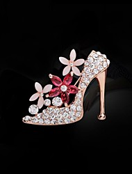 cheap -Women's Fashion Rhinestone High Heels Brooch