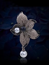 cheap -Women's Fashion Rhinestone Pearl Flower Brooch