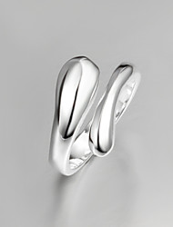cheap -Women's thumb ring Silver Screen Color Sterling Silver Silver Statement Unusual Unique Design Daily Jewelry Drop