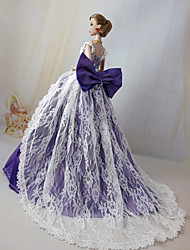 cheap -Doll accessories Doll Clothes Doll Dress Wedding Dress Party / Evening Wedding Ball Gown Tulle Lace Polyester For 11.5 Inch Doll Handmade Toy for Girl's Birthday Gifts  Doll Not Included / Kids