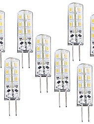 cheap -8pcs 1 W LED Corn Lights 100-120 lm G4 T 24 LED Beads SMD 3014 Dimmable Warm White 12 V