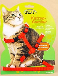 cheap -Adjustable Nylon PUre Colour Harness with Leash for Pet Dogs(Assorted Colours)