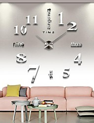 cheap -Frameless Large DIY Wall Clock, Modern 3D Wall Clock with Mirror Numbers Stickers for Home Office Decorations Gift