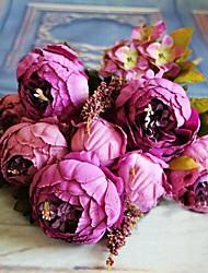 Недорогие -8 головы высокого класса в европейском стиле ядро пион моделирования цветок