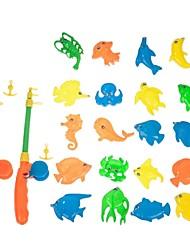 cheap -1 Kit 20pcs Sea Animals Fish 2 Fishing Rod Useful Baby Toy Set Developmental Toy