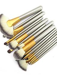 cheap -18PCS Professional Shine Luxury Gold Color Handle Persian Wool Brush Set