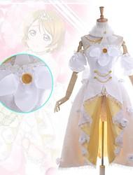 cheap -Inspired by Love Live Hanayo Koizumi Anime Cosplay Costumes Japanese Dresses Patchwork Sleeveless Dress Collar Armlet For Women's / Shorts / Shorts / Satin