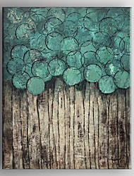 cheap -Oil Painting Hand Painted - Abstract Classic Traditional Stretched Canvas
