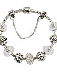 cheap -Women's Charm Bracelet Ladies European Fashion Resin Bracelet Jewelry White / Sliver For Daily / Rhinestone