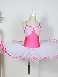 Недорогие -Детская одежда для танцев / Балет Платья Хлопок / Спандекс / Тюль Без рукавов