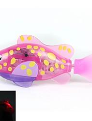 Недорогие -мигать прозрачный электронный рыба животное игрушка робот рыбу - роза + желтый + фиолетовый (2 х L1154)