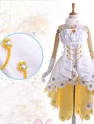 cheap -Inspired by Love Live Honoka Kōsaka Anime Cosplay Costumes Japanese Dresses Patchwork Sleeveless Dress / Collar / Gloves For Women's / Satin