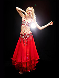 cheap -Belly Dance Outfits Women's Training Polyester Beading / Sequin Sleeveless Natural Bra / Ballroom