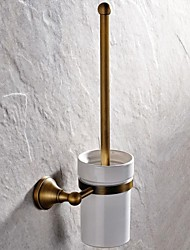cheap -High Quality Delicate Antique Toilet Brush Holder Brass 2 pc - Hotel bath