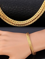 cheap -Women's Cubic Zirconia Chain Bracelet Twisted Zircon Bracelet Jewelry Golden For Christmas Gifts Wedding Party Daily Casual Sports / Gold Plated