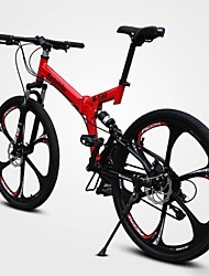 cheap -Mountain Bike Cycling 21 Speed 26 Inch / 700CC Double Disc Brake Springer Fork Full Suspension Ordinary / Standard Carbon / Aluminium Alloy