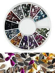 cheap -600pcs 12 color drop shaped diamond nail art decoration