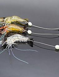 cheap -3 pcs Fishing Lures Soft Bait Craws / Shrimp Luminous Bass Trout Pike Sea Fishing Freshwater Fishing Lure Fishing Soft Plastic