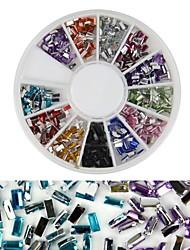 cheap -600pcs 12 color square diamond nail art decoration