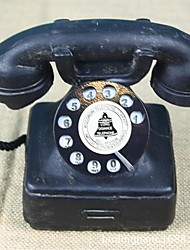 cheap -Home Ornaments Vintage 1940s Western Electric Black Rotary Handset Desk Phone Model 1pc