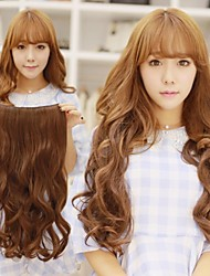 Недорогие -пушистые высокая термостойкость длинные волнистые волосы и клип в наращивание волос с 5 клипов
