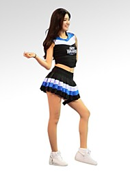 cheap -Cheerleader Costumes Dance Costumes Cosplay Training Performance Sleeveless Natural Cotton Polyester