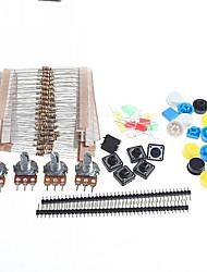 Недорогие -универсальные углерода Resisters + поворотные потенциометры комплект деталей для Arduino