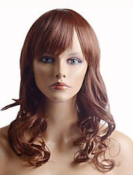 cheap -Capless Fashion Color Silky  Stylish Hair Long Wavy Synthetic Full Bang Wig