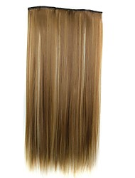 cheap -Hair Piece Straight Classic Synthetic Hair 22 inch Hair Extension Clip In / On Synthetic Women's Daily