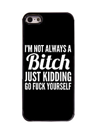 cheap -Case For iPhone 5 / Apple iPhone SE / 5s / iPhone 5 Pattern Back Cover Word / Phrase Hard PC
