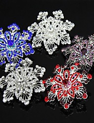 cheap -5.8CM Bridal Beautifull Flower Floral Crystal Rhinestone Fancy Special Costume Brooch Pin More Colors