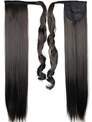 cheap -Ponytails Synthetic Hair Hair Piece Hair Extension Straight Daily
