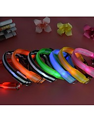 cheap -Cat Dog Collar Waterproof LED Lights Nylon Green Blue Pink