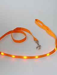 cheap -Fashion Soft LED Flash Dog Leash for Pets Dogs Three Colors (Assorted Size,Assorted Color)