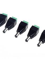 Недорогие -5,5 х 2,1 мм CCTV постоянного тока розетки адаптер (5-Pack)