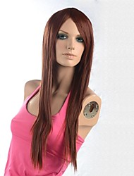 cheap -Synthetic Wig Straight With Bangs Wig Chestnut Brown Women's Brown