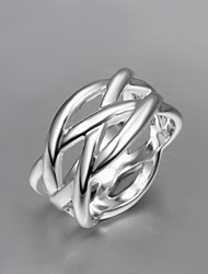 cheap -Women's Ring Silver Screen Color Sterling Silver Silver Statement Ladies Unusual Daily Jewelry