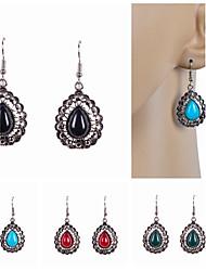 cheap -Women's Drop Earrings Drop Luxury Imitation Pearl Resin Rhinestone Earrings Jewelry Red / Green / Blue For Wedding Party Daily Casual Sports / Imitation Diamond