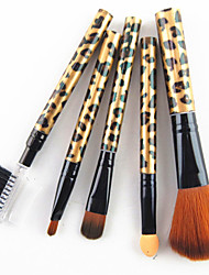 cheap -Professional Makeup Brushes Makeup Brush Set 5pcs Professional Synthetic Hair Plastic Makeup Brushes for