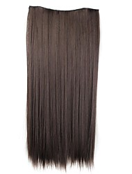 cheap -Human Hair Extensions Classic Hair Extension Clip In / On Brown Daily