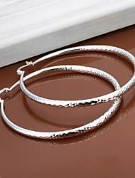 cheap -SSMN Women's  Silver Plate Earrings