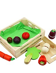 cheap -BENHO Rubber Wood Vegetable Set Wooden Role Playing Toy