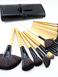 cheap -Professional Makeup Brushes Makeup Brush Set 24 Portable Travel Eco-friendly Professional Full Coverage Pony / Synthetic Hair / Horse Wood for Makeup Brush Set / Artificial Fibre Brush / Pony Brush